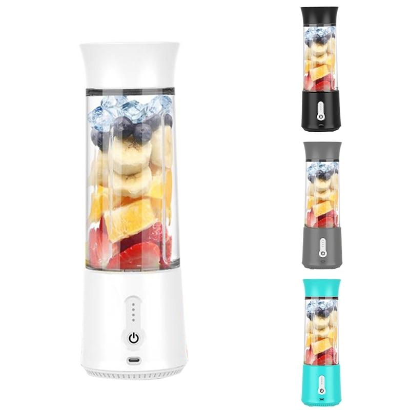 خلاط المحمولة ، عصير كوب لصنع العصائر-ستة شفرات ، 500 مللي آلة خلط الفاكهة USB بطاريات قابلة للشحن عصارة
