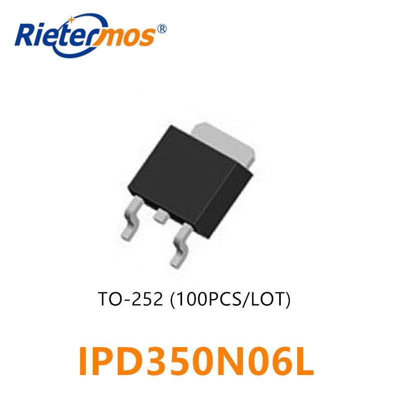 100 قطعة N-CHANNEL 60V IPD350N06L IPD350N06 350N06L 350N06 TO252 عالية الجودة