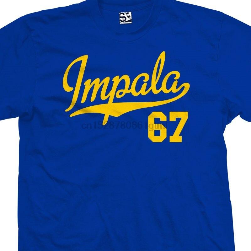 Impala 67 Script Tail Shirt-классическая Классическая рубашка с заниженной проймой-все размеры цвета