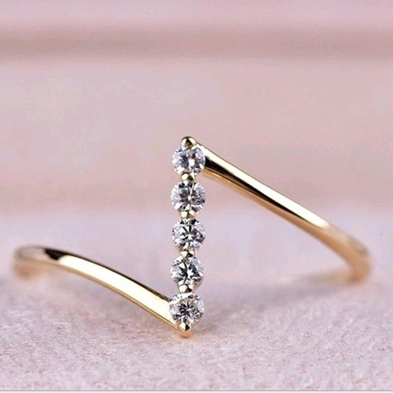 Женское кольцо с буквами и бриллиантами, изящное кольцо с геометрическим узором, аксессуар для вечеринки, 2021