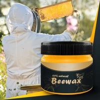 Hot Organic 100% Natural Pure Wax Wood Seasoning Beewax Complete Solution Furniture Care Beeswax Home Cleaning