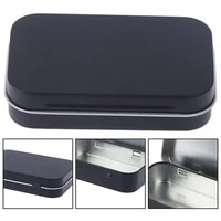 black tobacco storage box humidor rolling paper box cigarette case box jewelry candy coin key organizer tin flip gifts sealed