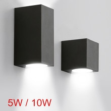 5 W 10W IP65 방수 실내 옥외 Led 벽 조명 아래로 Led 벽 램프 표면 탑재 큐브 정원 베란다 빛