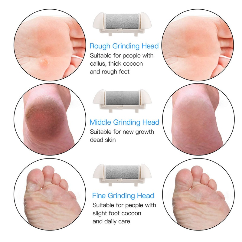 Electric Foot File Grinder Dead Dry Skin Callus Remover Rechargeable Feet Pedicure Tool Foot Care Tools for Hard Cracked Clean enlarge