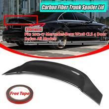 W218-Spoiler de coffre arrière de voiture   En Fiber de carbone véritable, couvercle à ailes pour Benz W218 CLS63 CLS500 CLS550 2012-2017