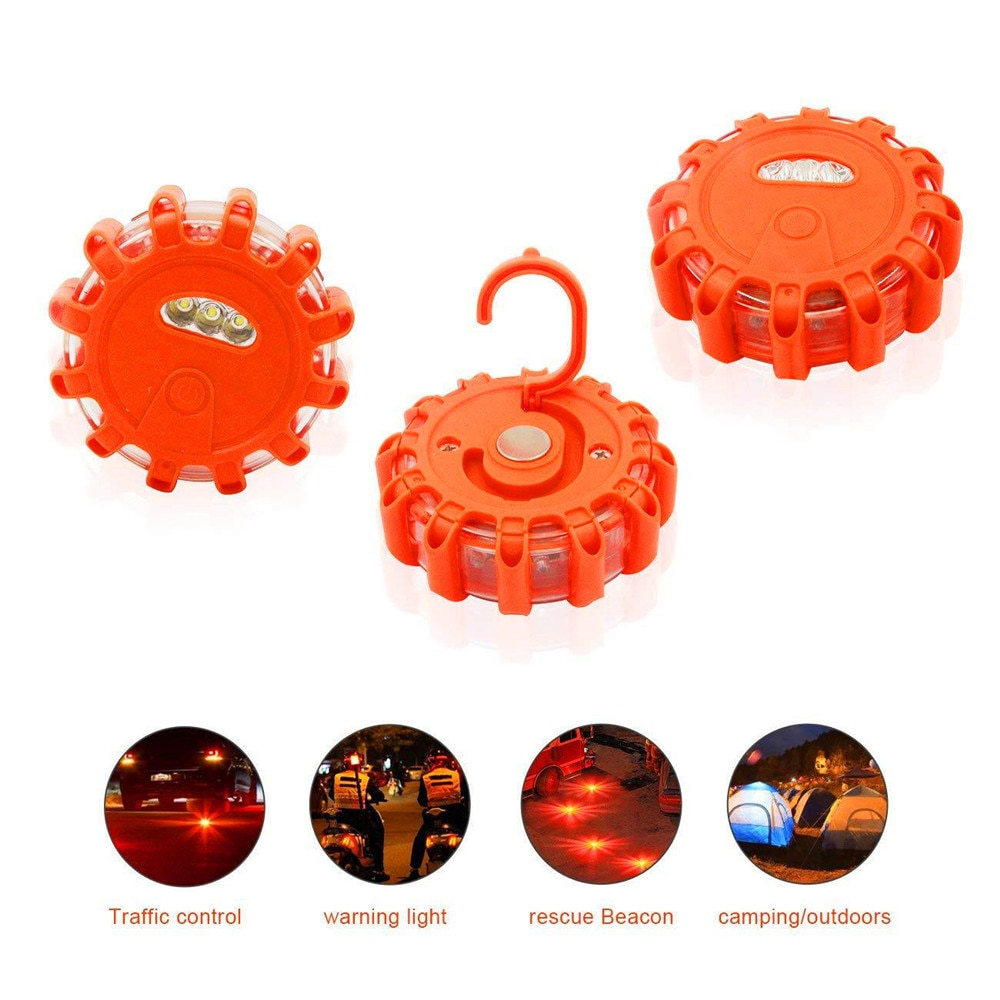 Magnetic Emergency Roadside Safety Light IP44 Road Flares Rescue Light LED Strobe Warning Light Flas