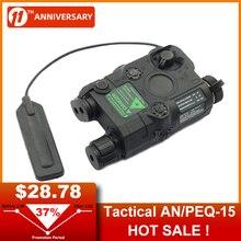 AN/PEQ-15 Red Dot Laser White LED Flashlight 270 Lumens for Standard 20mm Rail Night Vision Hunting
