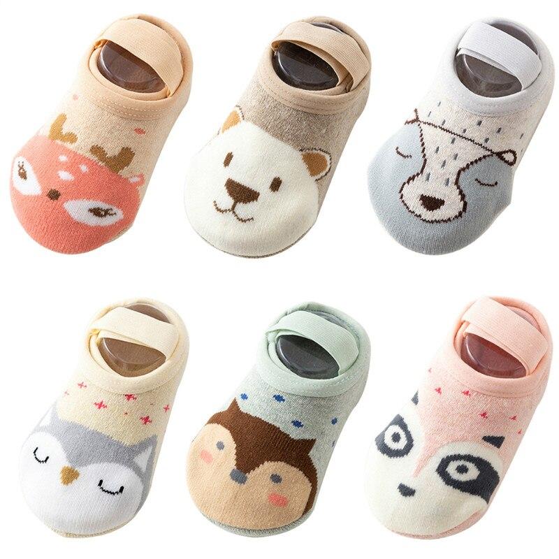 1 пара, детские носки, носки-башмачки, детские носки-тапочки с милым мультяшным рисунком, детские Нескользящие носки, хлопковые мягкие носки ...