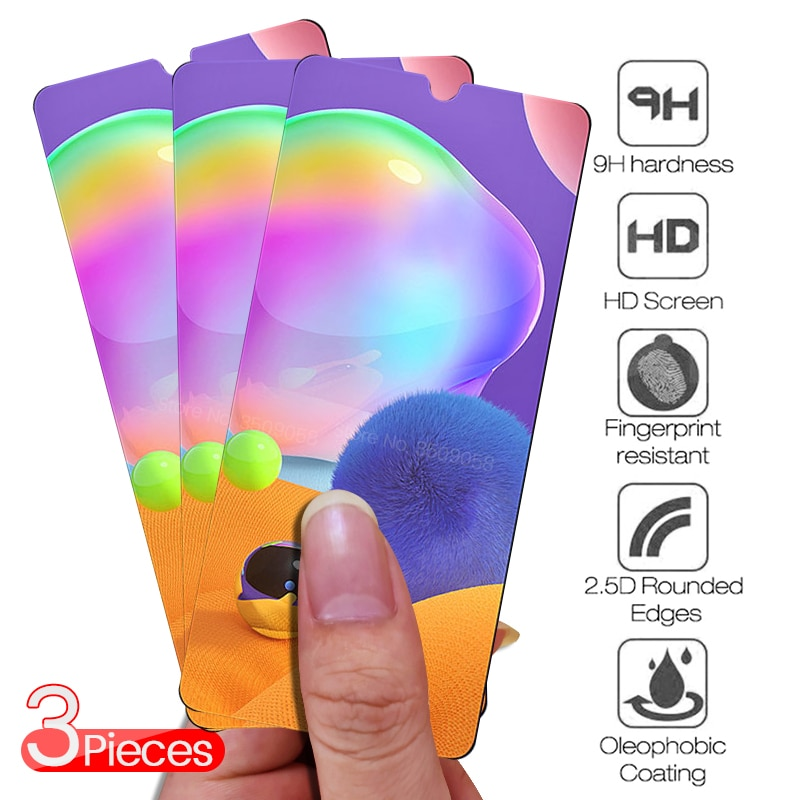 3 2 1 peças de vidro em sansung um 31 classe de vidro protetor para samsumg galaxy a31 31a 2020 filme protetor de tela sm-m315f/ds 6.4