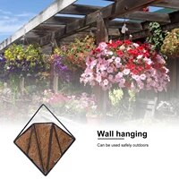 hanging flower basket coco liners metal plant pot holder lifting rope flowerpot garden wall decoration