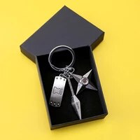 keychains with box hokage metal kakashi book key chain ring pendant anime keychain key holder charm souvenir keychains