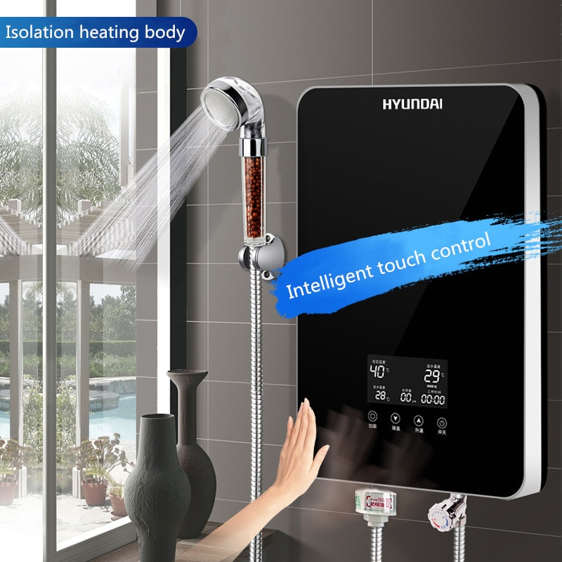 Electric Water Heaters Small 3-second Hot Shower for Household Use One-button Startup Temperature Se