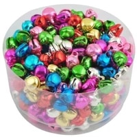 100 500 1000pcs mixed colorful iron metal loose beads christmas jingle bells pendants charms for jewelry making diy decoration