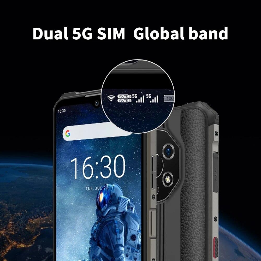 OUKITEL WP13 Global Version 5G Smartphone 8GB+128GB 5280mAh 6.52''HD+ Rugged Mobile Phone 48MP MT6833 NFC Phone enlarge