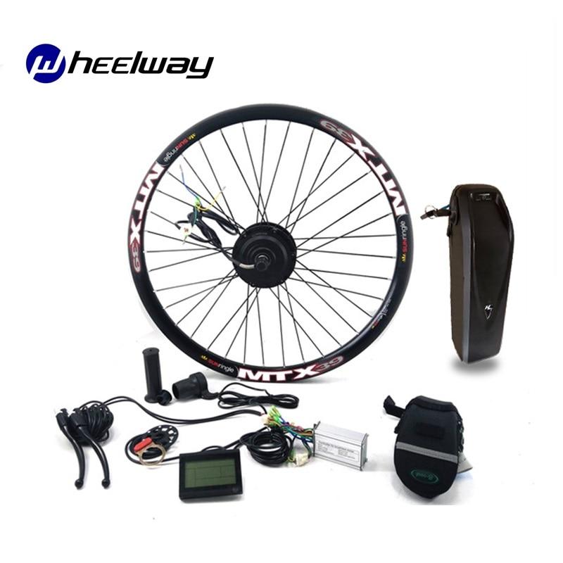 Kit de conversión de motor DC para Bicicleta eléctrica, rueda con batería...