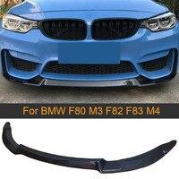 Carbon Fiber Front Bumper Lip Spoiler for BMW F80 M3 F82 F83 M4 2014 - 2019 Sedan Coupe Convertible Front Lip Spoiler Splitters