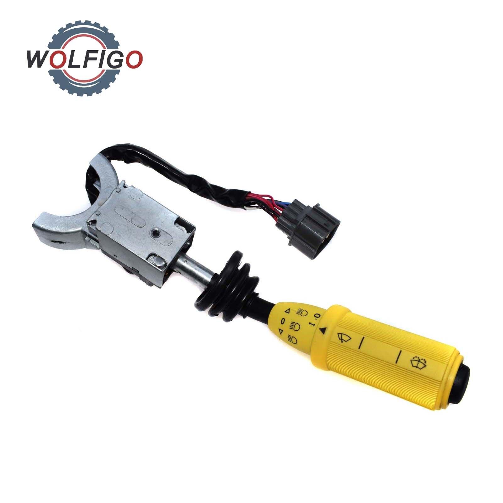 WOLFIGO interruptor de columna de luces y limpiaparabrisas interruptor de señal de giro a la derecha para JCB 3CX 4CX n. ° 701/37702 701-37702 70137702