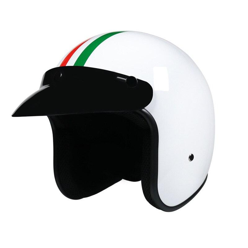 Мотоциклетный шлем 3/4, винтажный шлем для скутера с открытым лицом в стиле ретро, мотоциклетный шлем Vespa, спуск вниз, мопеды, эндуро, шлем Jet