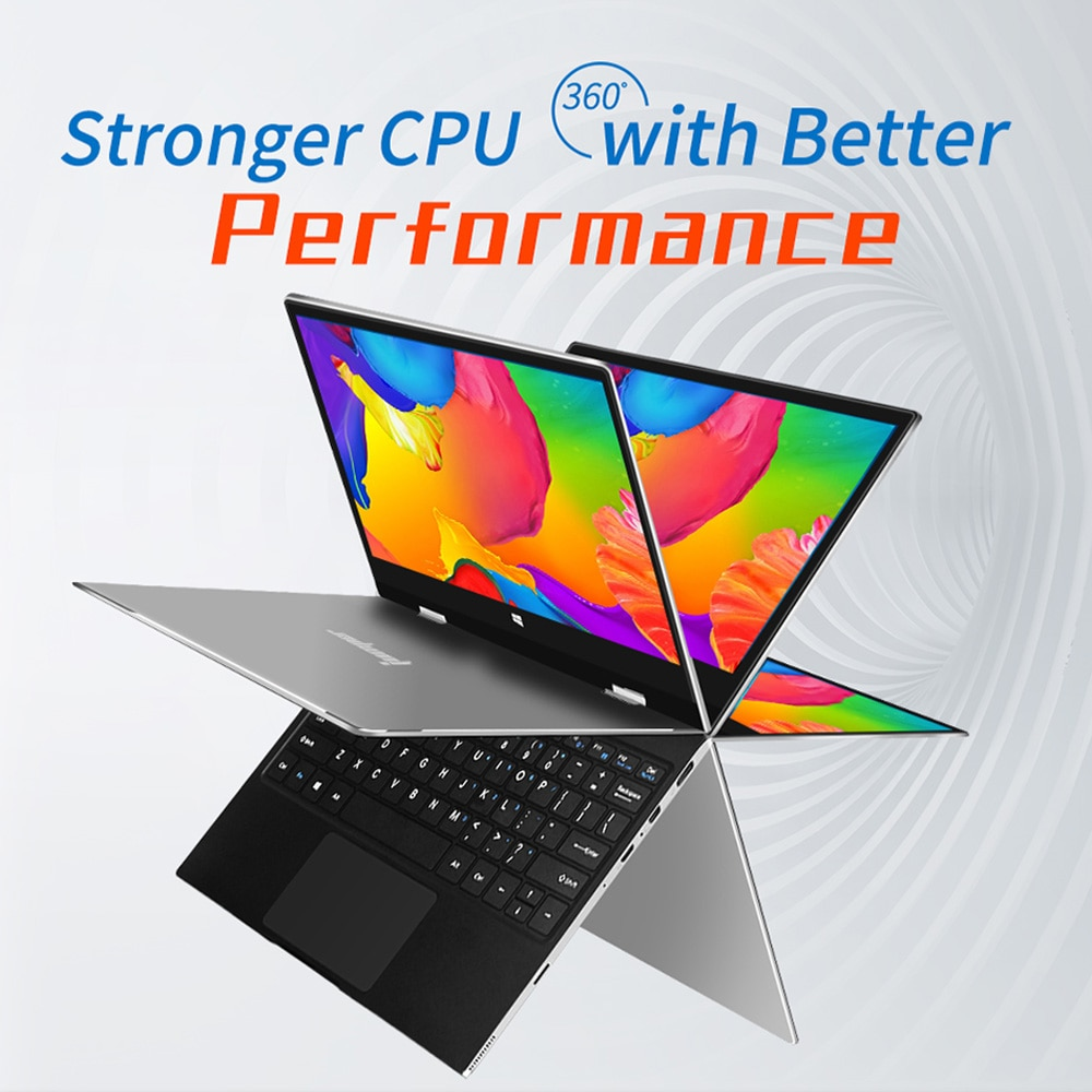 Get JUMPER EZbook X1 Laptop 11.6 Inch Quad Core 4GB+128GB Windows 10 Notebook 360° Rotating 1920*1080 IPS Touch Screen Computer
