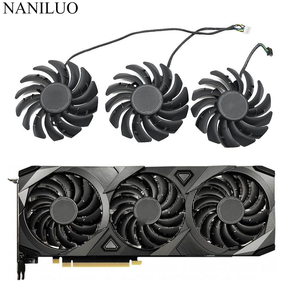 PLD09210B12HH 12V 0.40A Fan 85mm RTX3080 For MSI GeForce RTX 3070 3080 3090 VENTUS 3X GAMING Graphic Card Cooling Fan
