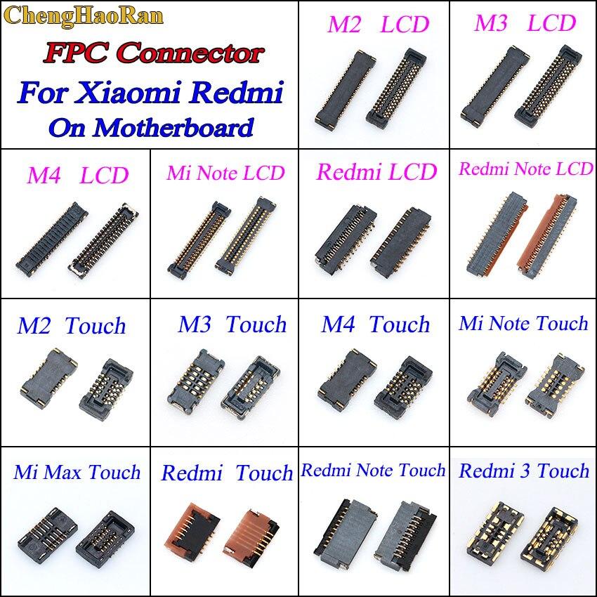 1 шт. сенсорный и ЖК-экран FPC коннектор для Xiaomi Mi 4 Mi4 Mi2 Mi3 Max Note Redmi Note Logic на материнской плате