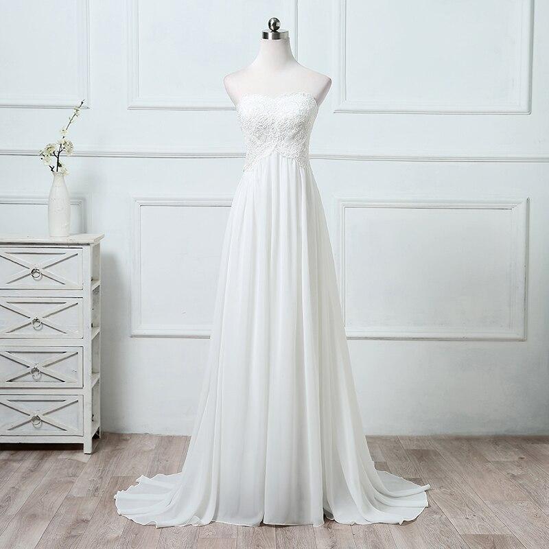 Vestido de novia De encaje con hombros descubiertos, para playa, boda