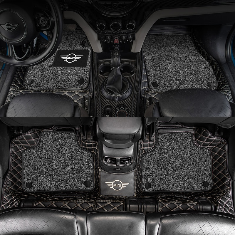 Auto Vloer Voet Matten Draad Pads Voor Bmw Mini Cooper R56 R60 F54 F55 F56 F57 F60 Countryman Clubman Lederen custom Auto Accessoires