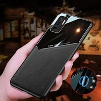 fashion double splicing dermatoglyph phone case for xiaomi redmi note 10s 10 pro max 5g 4g car magnetic protection back pc cover