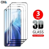 3d curved tempered glass on for xiaomi mi 11 10 ultra note 10 pro 5g note 10 full screen protector 9h hd protective film