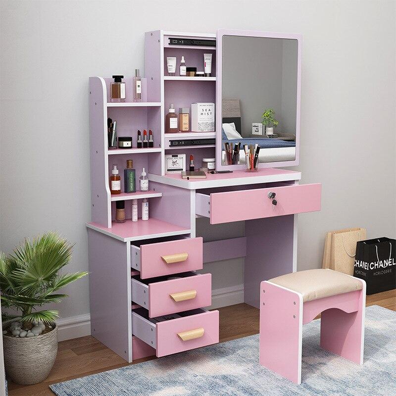 Новый современный туалетный столик шкафчик гардеробный шкаф для квартиры белый стол для спальни туалетный столик светильник кой зеркало т...