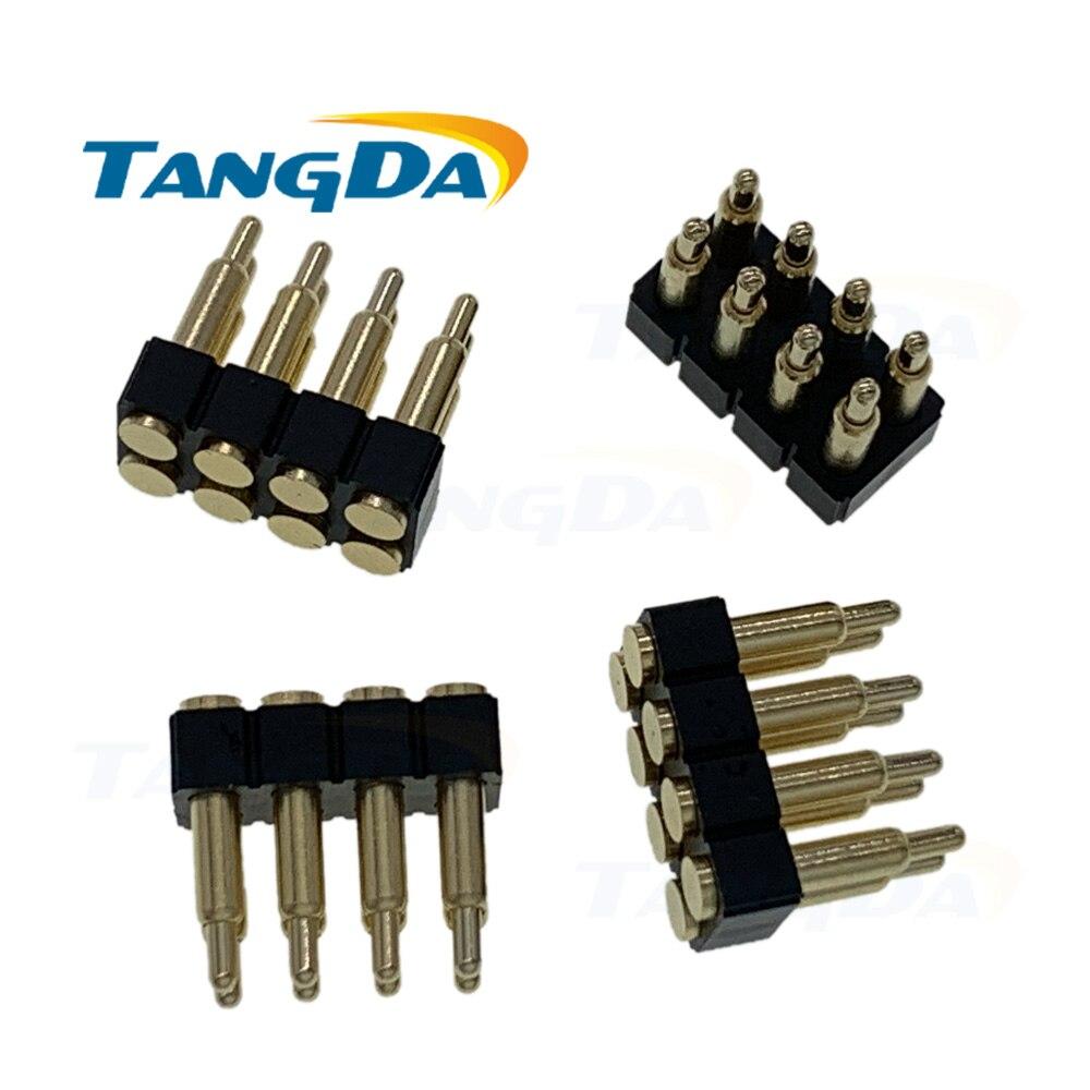 2*4pin conector pin POGO 8p pin de contacto de resorte 2,54 8pin conectores chapados en oro altura 5-12mm paso 2,54mm 2,5 2,54 SMD
