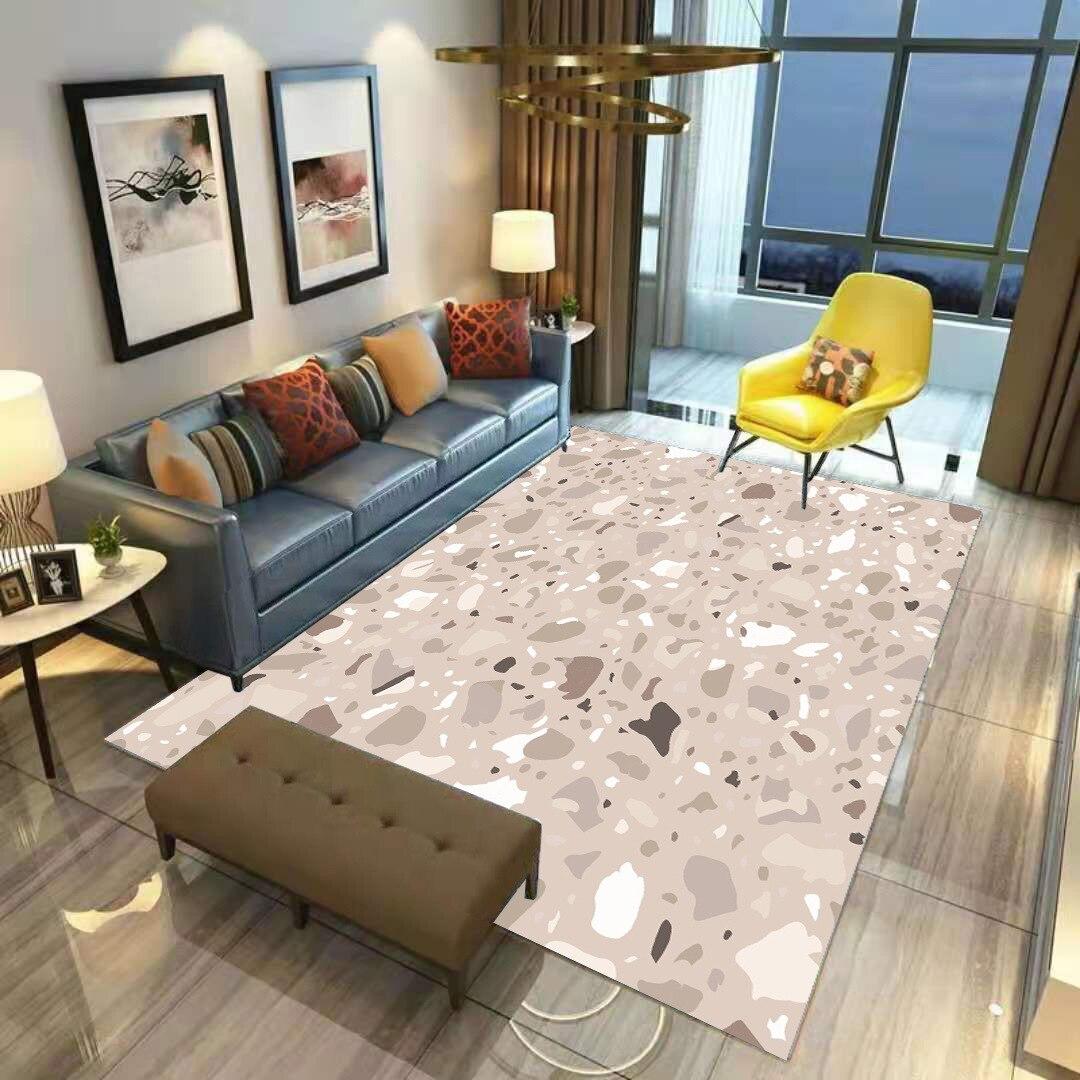 Цветной камни ковер ковры из мягкой фланели 3D коврики с принтом автомобильные коврики противоскользящие большие ковры украшения дома Стил...