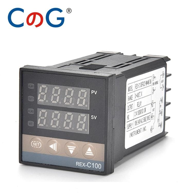 CG 48*48 REX-C100 K J PT100 termostato 400 grados 220V salida Digital electrónica PID sensores programables controlador de temperatura