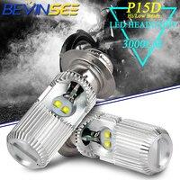 LED Headlight Bulbs Head Fog Lamp Light Bulbs P15D H6M For YAMAHA Grizzly 125 350 450 600 Kodiak 400 450 Raptor 125 350 700 700R