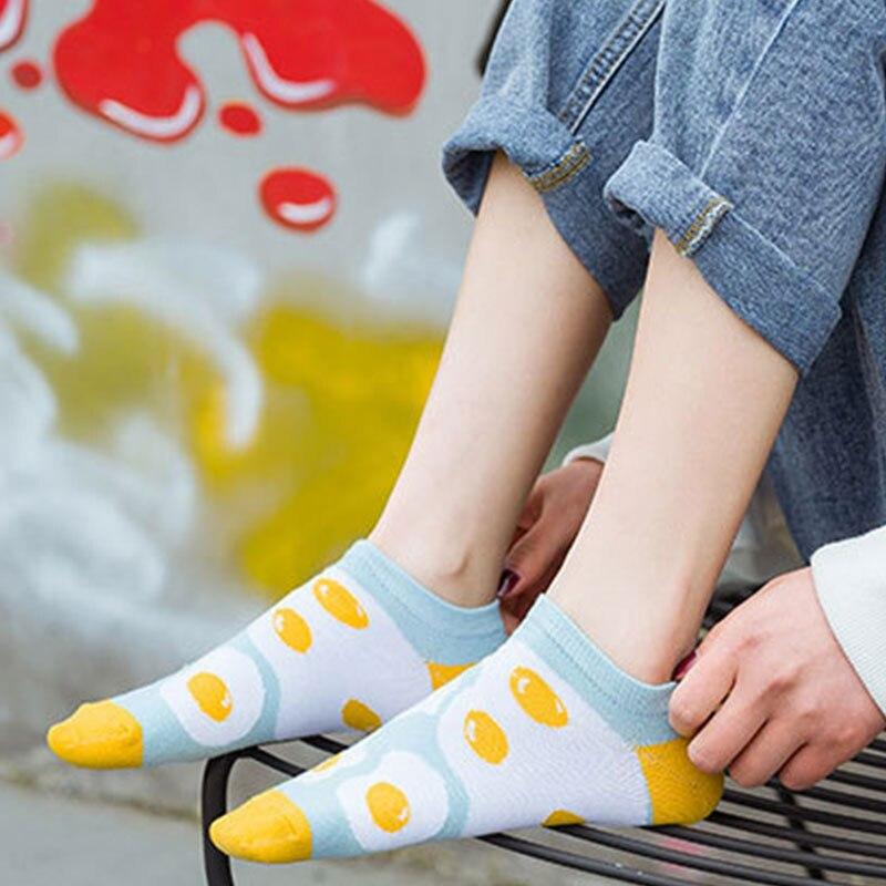 Calcetines tobilleros de dibujos animados de verano para niñas, calcetines cortos de algodón transpirables coloridos a la moda, bonitos calcetines para estudiantes al por mayor