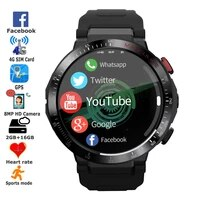 smartwatch new 4g gps smart watch lte mt6739 800mah with 8mp camera video call heart rate sports tracker for apple phone watch