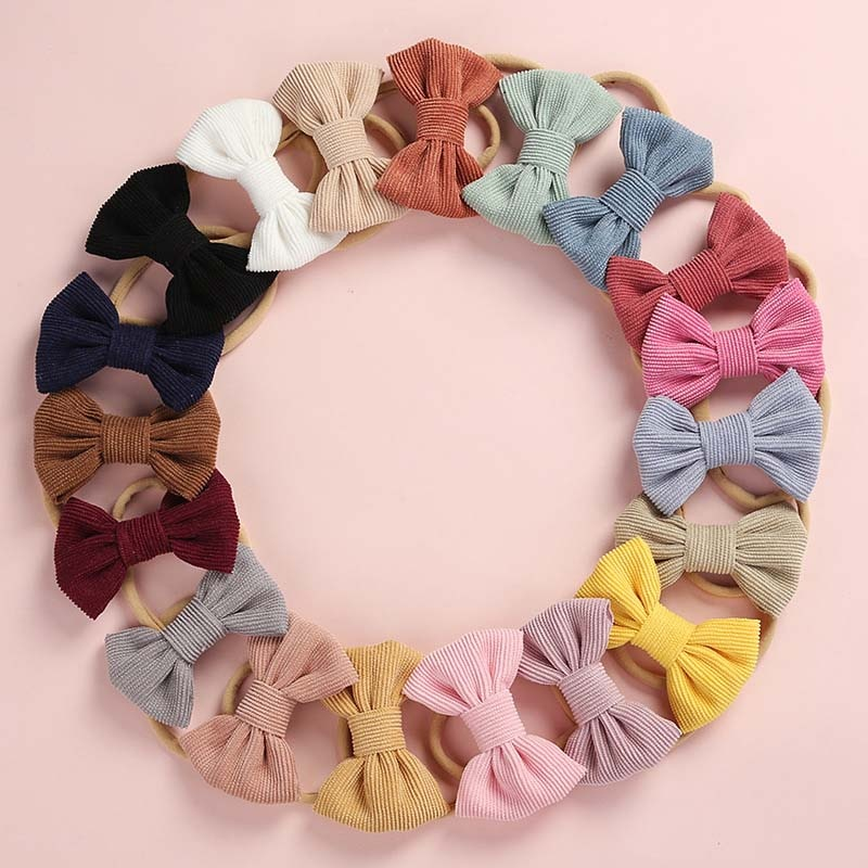 CN Baby Headband Bow Headbands Knot Head Bandage Kids Toddlers Headwear Hair Band Infant Accessories