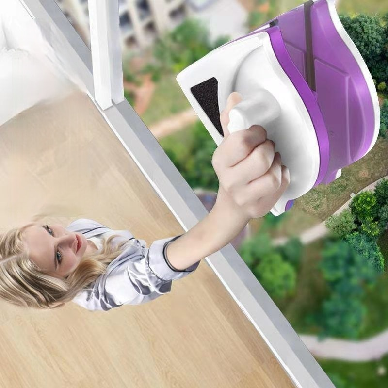 Limpiador de ventana magnética doble sin un lado para el hogar, doble capa, limpiacristales, DJ60WC