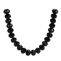 crystal diy findings loose rondelle beads spacer glass jewelry making wholesale faceted black craft charms bulk 3 18mm