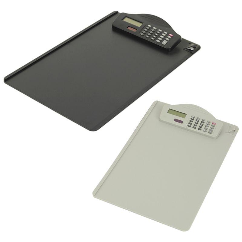 Portapapeles A4 de plástico con calculadora, Bloc de escritura, carpetas de archivos, portapapeles