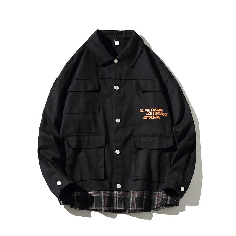 Мужская хлопковая куртка, Лоскутная куртка, отложной воротник, стиль милитари, армейская одежда, летная куртка, 5XL