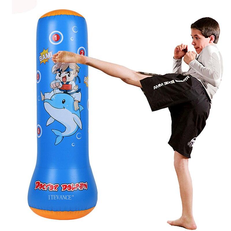 Saco de boxeo hinchable para niños, juegos al aire libre, saco de arena, gimnasio en casa, boxeo, lucha, entrenamiento, juguete antiestrés