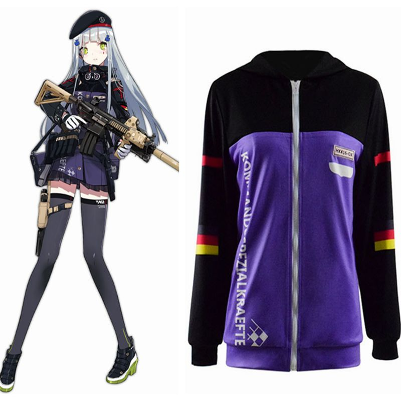 High-Q Unisex Anime Cosplay chicas primera línea HK416 HKM4 Cosplay disfraces chaqueta abrigos conjuntos