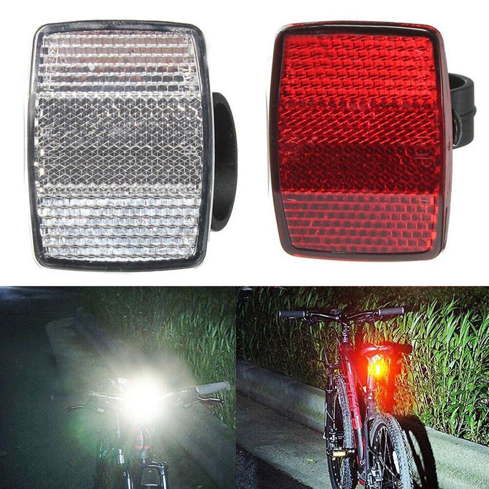 Велосипедный отражатель, крепление на руль, безопасный отражатель, наклейки на велосипед, передние и задние предупреждающие красные/белые новые аксессуары для велосипеда