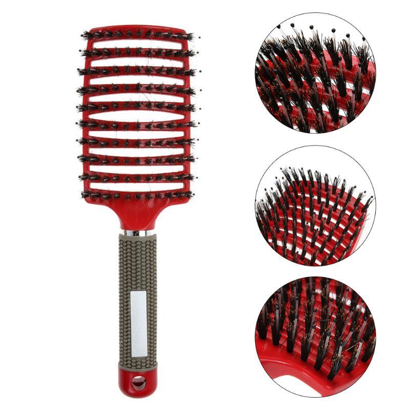 Массажная расческа для волос и кожи головы, щетка для волос, нейлоновая Женская щетка для влажных и вьющихся волос для салона, инструменты для укладки парикмахерских Расчески      АлиЭкспресс