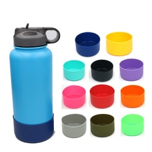1pcs Slip-proof Bottle Silicone Boots Sleeves For 12&24oz Or 32&40oz Hydro Flask Water Bottle Cup Li