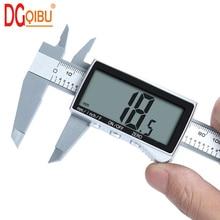 Новый электронный цифровой дисплей штангенциркуль дюймов/метрическое преобразование 6 дюймов 0-150 мм HD полноэкранный штангенциркуль измерительный инструмент