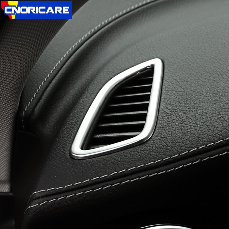 Cadre de décoration pour Mercedes Benz GLC X253 C Class W205 15-17 LHD   Tableau de bord de voiture en acier inoxydable et de climatisation