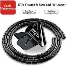 케이블 포장 장치 나선형 튜브 1.5m 3M, 직경 22mm 홈 와이어 스토리지에 사용되는 10 메쉬 와이어를 저장할 수 있습니다