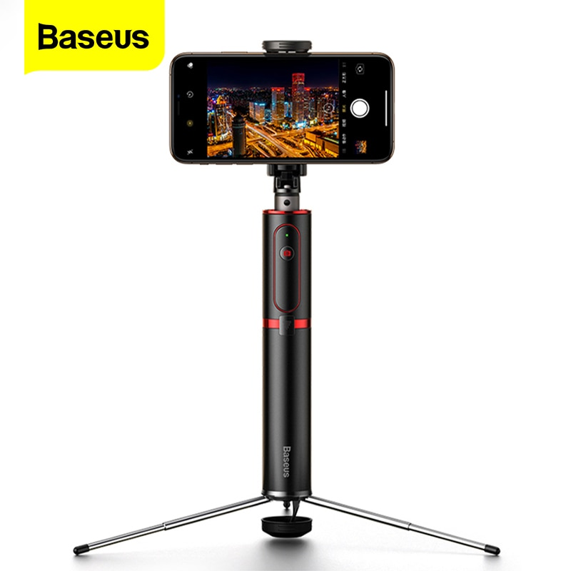 Baseus Bluetooth Selfie מקל חצובה אלחוטי עצמי מקל עבור iPhone 11 Xiaomi mi Huawei סמסונג נייד טלפון Selfiestick חדרגל